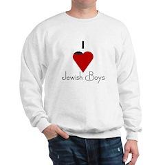 I Love (heart) Jewish Boys Sweatshirt