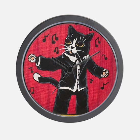 Opera Cat Wall Clock