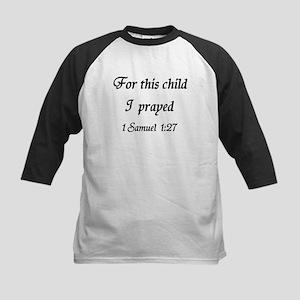 For this child I prayed Kids Baseball Jersey
