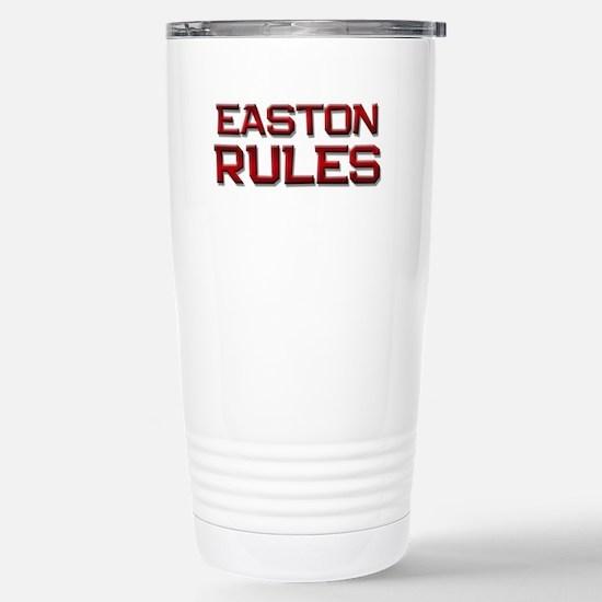 easton rules Stainless Steel Travel Mug