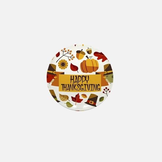 happy thanksgiving day! Mini Button