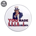 """Uncle Sam on Obama 3.5"""" Button (10 pack)"""