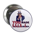 """Uncle Sam on Obama 2.25"""" Button (100 pack)"""