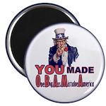 Uncle Sam on Obama Magnet