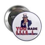 """Uncle Sam on Obama 2.25"""" Button"""