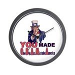 Uncle Sam on Obama Wall Clock