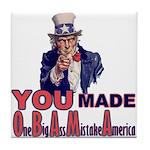 Uncle Sam on Obama Tile Coaster