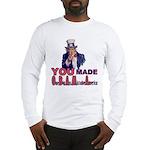 Uncle Sam on Obama Long Sleeve T-Shirt