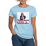 Uncle Sam on Obama Women's Light T-Shirt
