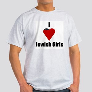 I Love (heart) Jewish Girls Ash Grey T-Shirt