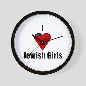 I Love (heart) Jewish Girls Wall Clock