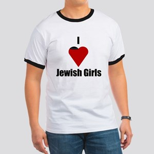 I Love (heart) Jewish Girls Ringer T