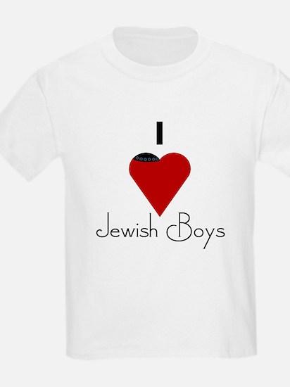 I Love (heart) Jewish Boys Kids T-Shirt