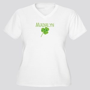 Madalyn shamrock Women's Plus Size V-Neck T-Shirt