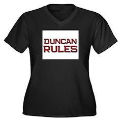 duncan rules Women's Plus Size V-Neck Dark T-Shirt