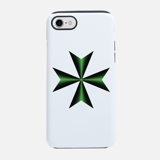 Green Maltese Cross iPhone 7 Tough Case