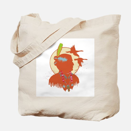 American Indian Man Tote Bag