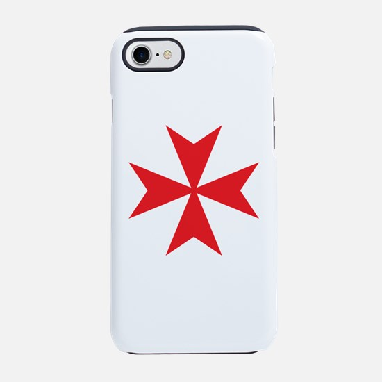 Red Maltese Cross iPhone 7 Tough Case