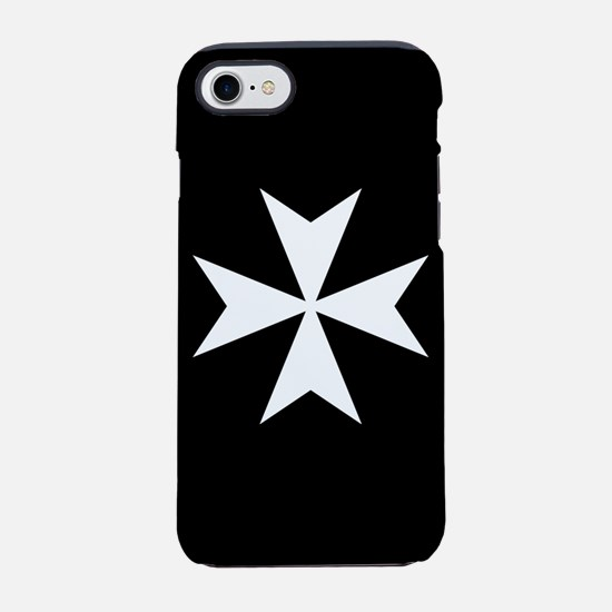 White Maltese Cross iPhone 7 Tough Case