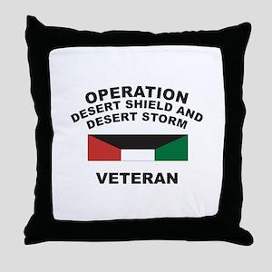 Kuwait Veteran 1 Throw Pillow