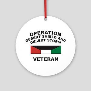 Kuwait Veteran 1 Ornament (Round)