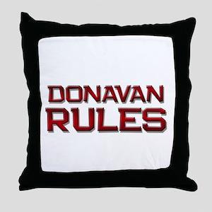 donavan rules Throw Pillow
