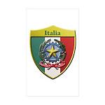 Italy Metallic Shield Sticker