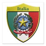 Italy Metallic Shield Square Car Magnet 3