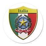 Italy Metallic Shield Round Car Magnet