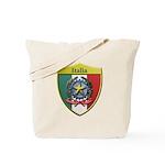 Italy Metallic Shield Tote Bag
