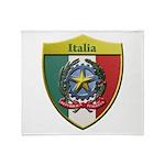 Italy Metallic Shield Throw Blanket