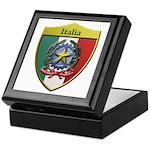 Italy Metallic Shield Keepsake Box