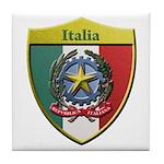 Italy Metallic Shield Tile Coaster