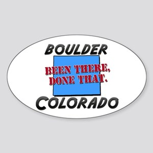 boulder colorado - been there, done that Sticker (