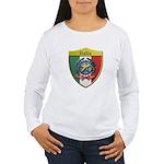 Italy Metallic Shield Long Sleeve T-Shirt