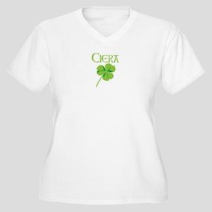 Ciera shamrock Women's Plus Size V-Neck T-Shirt