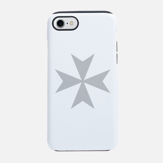 Silver Maltese Cross iPhone 7 Tough Case