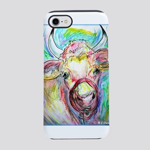 Cow! Colorful, art! iPhone 7 Tough Case