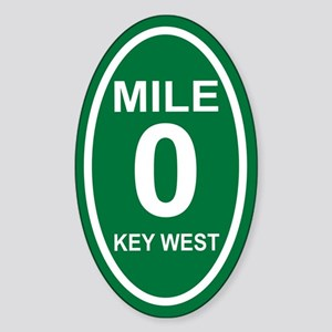 Mile Marker Zero Key West Euro Oval Sticker