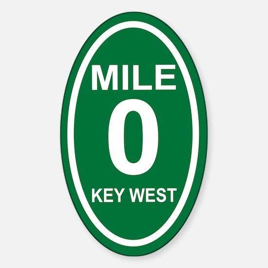 Mile Marker Zero Key West Euro Oval Decal