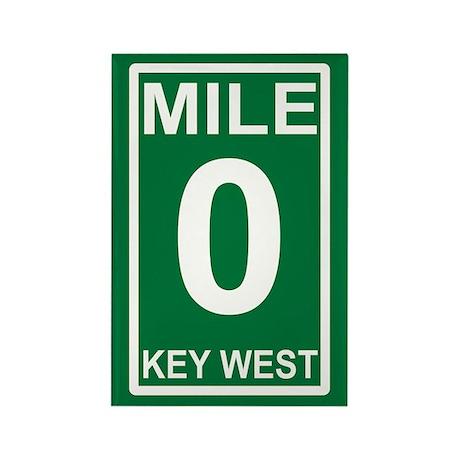 Mile Zero Key West Rectangle Magnet