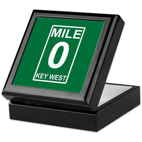Mile Zero Key West Keepsake Box