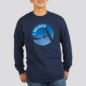 Airplane - I Soloed Long Sleeve Dark T-Shirt