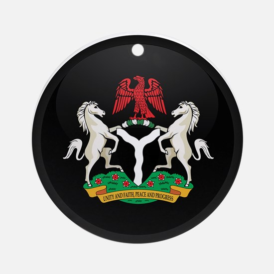 Coat of Arms of nigeria Ornament (Round)