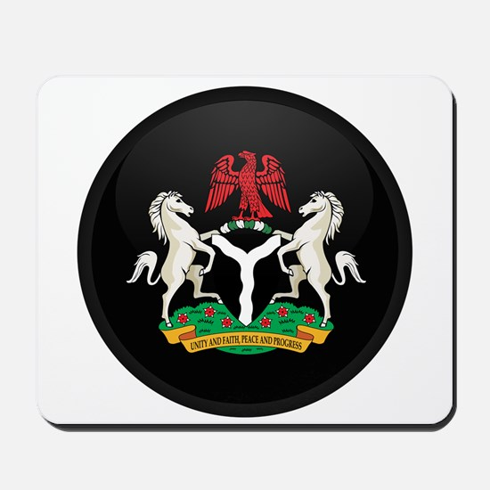 Coat of Arms of nigeria Mousepad