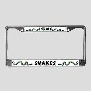 Snakes License Plate Frame