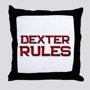 dexter rules Throw Pillow