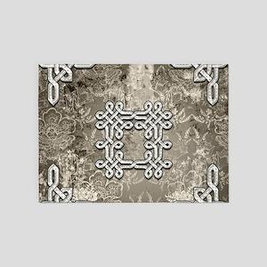 Decorative celtic knot on vintage background 5'x7'