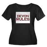 devon rules Women's Plus Size Scoop Neck Dark T-Sh