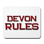 devon rules Mousepad